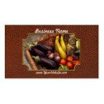 Comida - verduras - del jardín de la madre tarjetas de visita