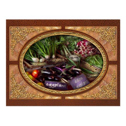 Comida - verduras - mismo recién hecho tarjeta postal