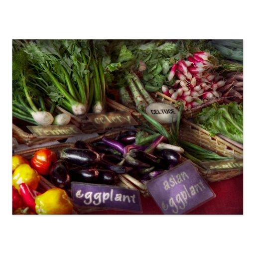 Comida - verduras - mismo recién hecho postal