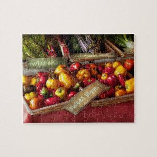 Comida - verduras - pimientas dulces para la venta puzzles