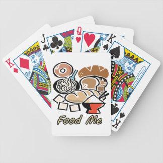 Comida yo baraja de cartas