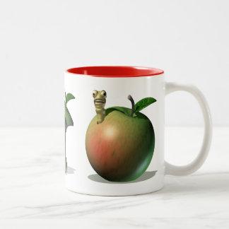 Comidas codiciosas de Apple Tazas De Café