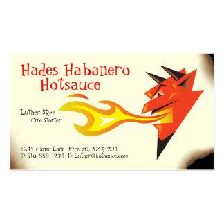 Comidas de Head_Hot Sauce_Spicy del diablo ardient Plantilla De Tarjeta De Negocio