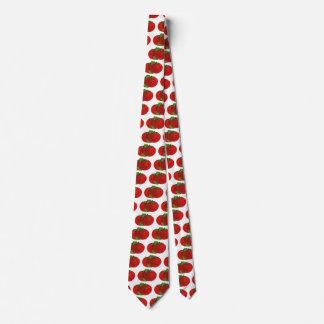 Comidas del vintage, verduras, tomate maduro rojo corbatas personalizadas