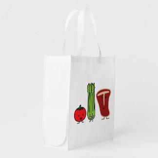 Comidas felices bolsas reutilizables