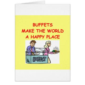 comidas frías tarjeta de felicitación