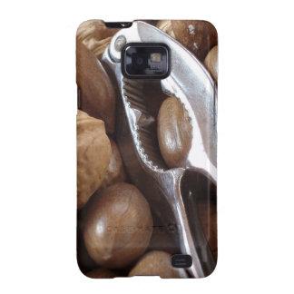 COMIDAS NUTS PHOTOGRAP DEL METAL PLATEADO DEL CASC GALAXY S2 FUNDAS