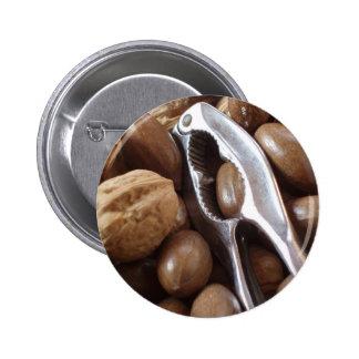 COMIDAS NUTS PHOTOGRAP DEL METAL PLATEADO DEL CASC PINS