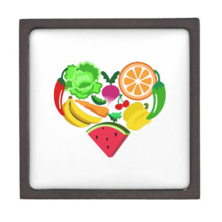 comidas sanas del corazón cajas de recuerdo de calidad