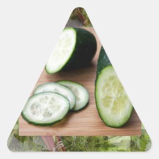 Comidas tónicas de la ensalada de la piel sana pegatina triangular