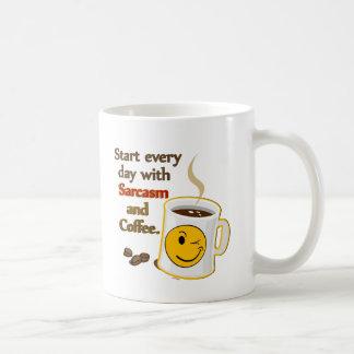 Comience cada día con sarcasmo y café taza de café