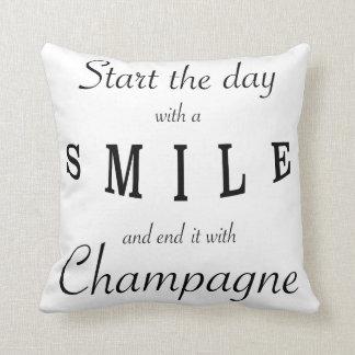 Comience el día con una almohada de la frase de la