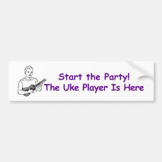 ¡Comience el fiesta! El jugador de Uke está aquí Pegatina Para Auto