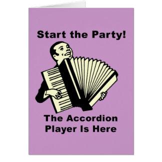 ¡Comience el fiesta! Tarjeta