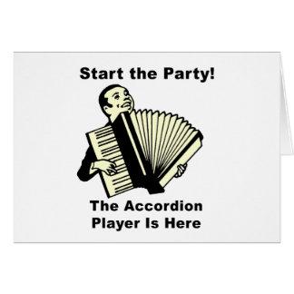 ¡Comience el fiesta! Tarjeta De Felicitación