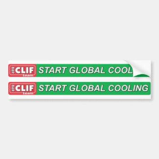 Comience el logotipo superior de enfriamiento glob etiqueta de parachoque