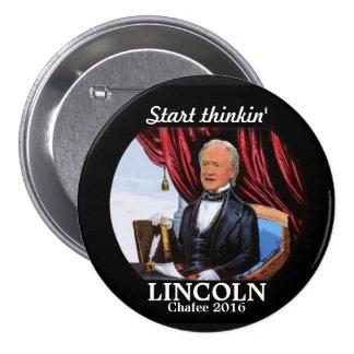 Comience el thinkin Lincoln Pin Redondo De 3 Pulgadas