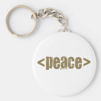 Comience la paz (de color caqui) llavero