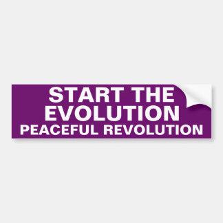 COMIENCE LA REVOLUCIÓN PACÍFICA DE LA EVOLUCIÓN PEGATINA PARA AUTO