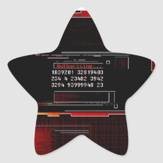 Comience la tecnología pegatina en forma de estrella