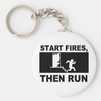 Comience los fuegos después el funcionamiento llaveros personalizados