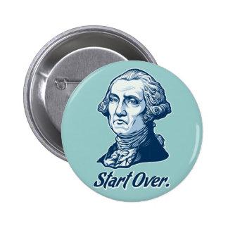 Comience sobre el botón de Washington Pin Redondo De 2 Pulgadas