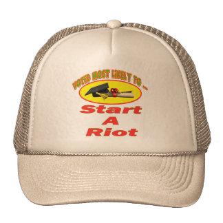 Comience un alboroto gorras