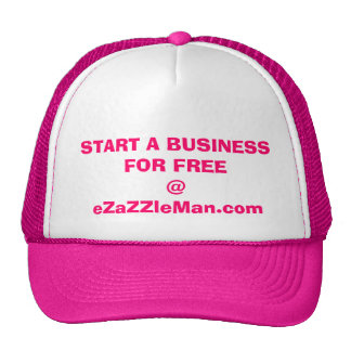 Comience un negocio gratis @ eZaZZleMan.com Gorros Bordados