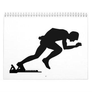 Comienzo corriente del sprint calendarios