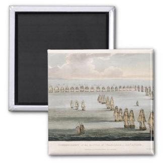 Comienzo de la batalla de Trafalgar, 21ro Octo Imán Cuadrado