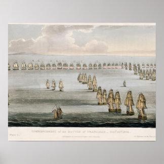 Comienzo de la batalla de Trafalgar, 21ro Octo Poster