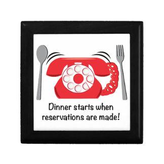 ¡Comienzo de la cena cuando se hacen las reservas! Cajas De Regalo