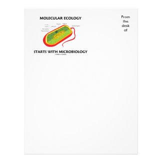 Comienzo de la ecología molecular con plantilla de membrete