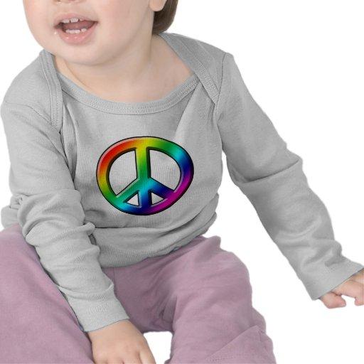Comienzo de la paz con una sonrisa camiseta