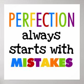 Comienzo de la perfección con errores póster