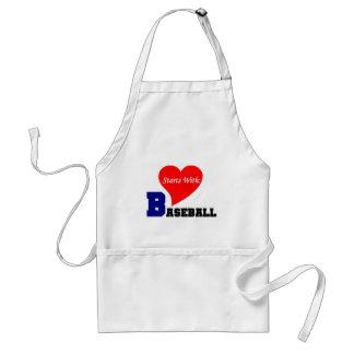 Comienzo del amor con béisbol delantal