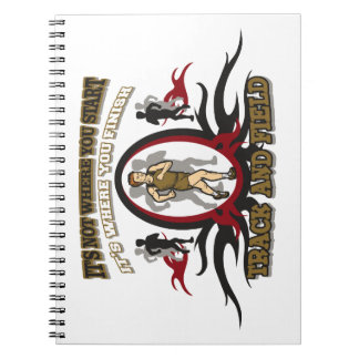 Comienzo del atletismo spiral notebooks