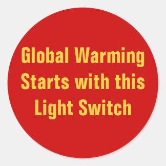 Comienzo del calentamiento del planeta con este in pegatinas