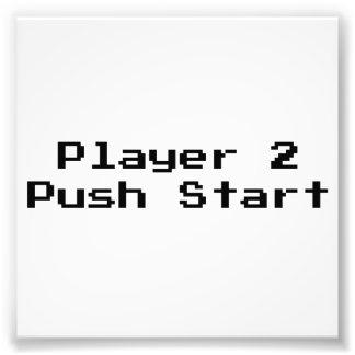 Comienzo del empuje del jugador 2 impresion fotografica