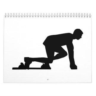 Comienzo Sprinting del corredor Calendarios