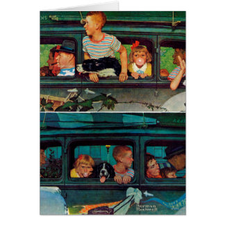 Coming and Going by Norman Rockwell Card