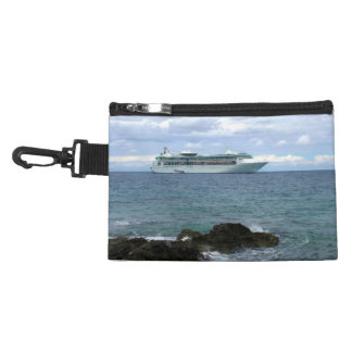 Coming Ashore Ship Rocks and Waves Accessory Bag