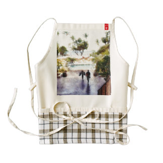 Coming back from the beach zazzle HEART apron