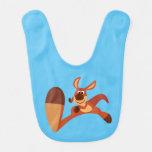 """Coming!!"" Cute Cartoon Kangaroo Baby Bib"