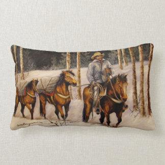 Coming Down From Black Mountain Designer Pillow Throw Pillows