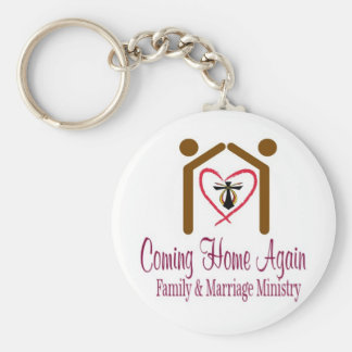 Coming Home Again Apparel Products Basic Round Button Keychain