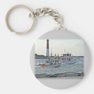 Coming Home - Fishing Boats in Barnegat Inlet Item Basic Round Button Keychain