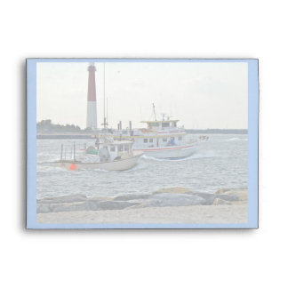 Coming Home - Fishing Boats in Barnegat Inlet Item Envelope