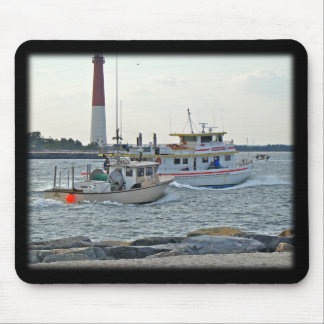 Coming Home - Fishing Boats in Barnegat Inlet Item Mouse Pad
