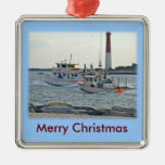 Coming Home - Fishing Boats in Barnegat Inlet Item Christmas Tree Ornaments